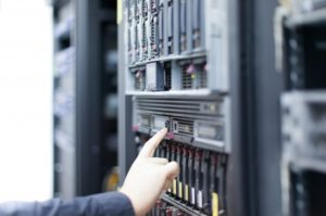 Network servers in a data center