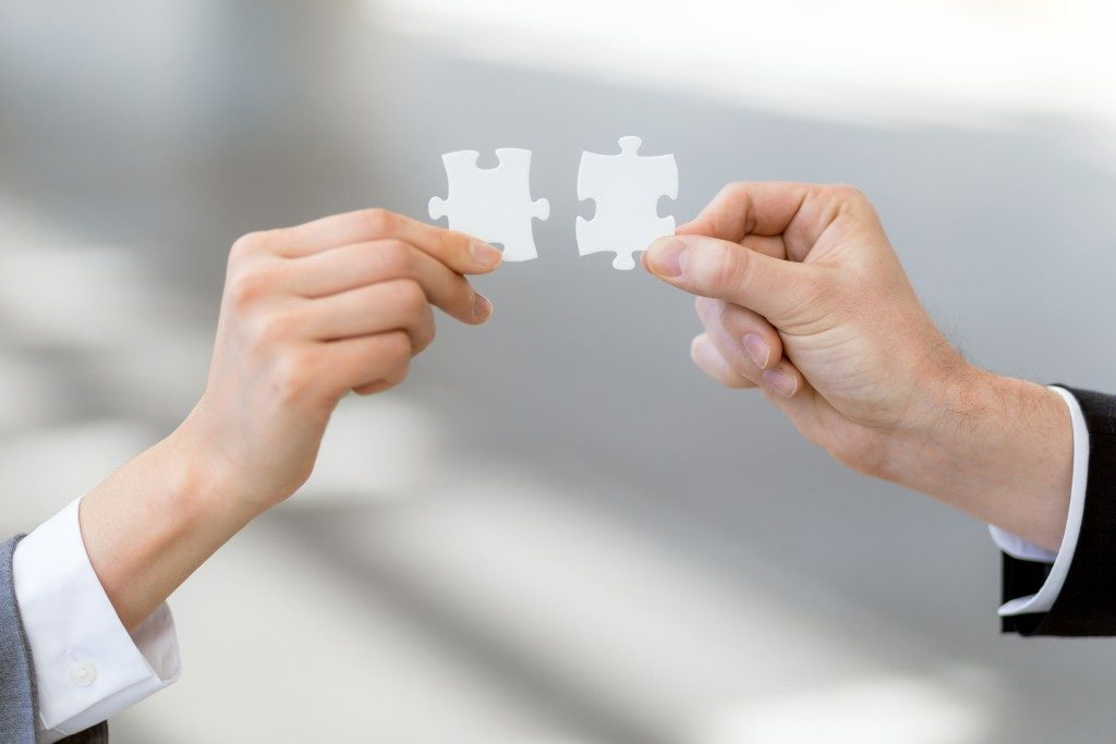 Finding the perfect fit, puzzle concept